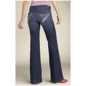7 For All Mankind Dojo Flared Jeans 28